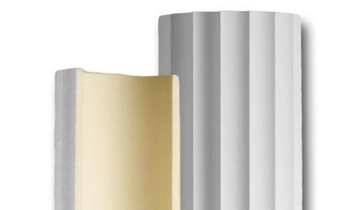 DreamWallDecor Decorative Interior Column - Half Column Made from Dense Architectural Polyurethane Compound 9 inch Shaft (94 1/2