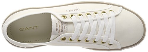 Gant Hombres Baron Trainers Off Blanco Off White