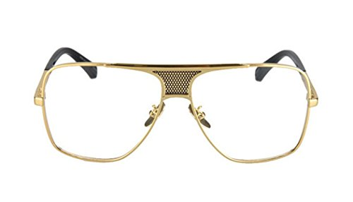 GAMT Retro Square Gold Frame Aviator Men's Goggles Plain Glasses - Vercase Glasses