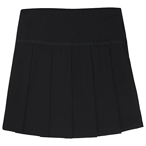 (French Toast  Girls' Pleated Scooter with Gross Grain Ribbon, Black, 3T,Toddler)