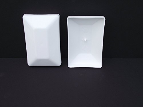 125 PACK-White Fence Post Plastic Caps 4x6 (3 5/8'' X 5 5/8'') Decorative Fence toppers for 4 x 6 post by JSP Manufacturing