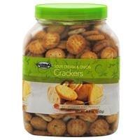 Sour Tub (Global Brands Sour Cream & Onions Cracker Tub - Case Pack 12 SKU-PAS745679)