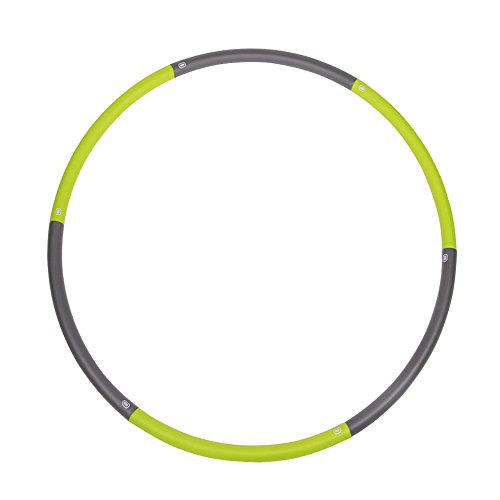 CONMING Fitness Hula Hoop Adjustable Exercise for Adult and Kids Weighted Foldable Foam Padded 90cm Wide