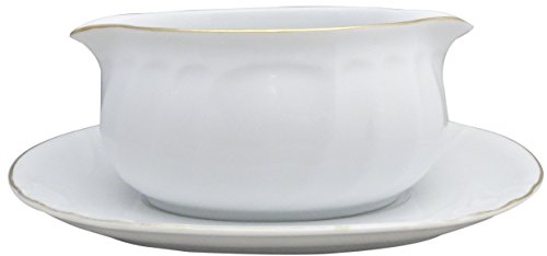 Mikasa Wedding Band Gold Gravy Boat & Underplate