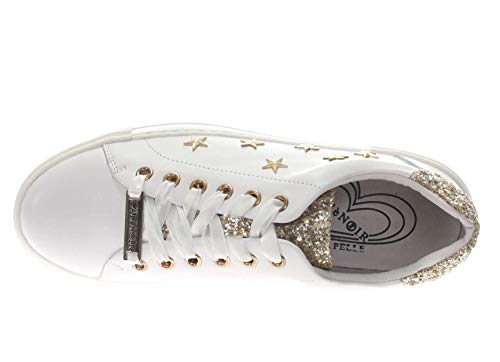 Cafe' Donna Sneaker Dd127 Bianco Noir aaqfwBO7