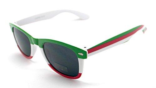 de Gafas Sol Wayfarer Italia Bandera Espejo Sunglasses BqTwRqd