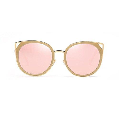 QZ HOME Sunglasses Decorative Mirror Movement Cat's Eye Street Beat Reflective Vintage Travel Ultralight Polarized Light Personality Fashion Anti-UV400 (Color : 3)