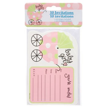 Party U0026quot;Baby Showeru0026quot; Invitations With Envelopes, 10 Ct. Packs (