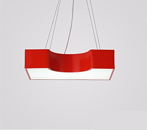 Cttsb chandelier pendant lamps The modern creative personality color cartoon led block iron chandelier bedroom living room children's room boys and girls rooms, red 45309cm