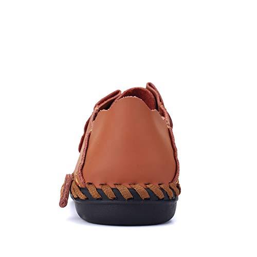 e ampia Xiaojuan EU Orange gamma shoes barca da Uomo vera vista Pelle Scarpe mocassini con Color di Orange in Mocassini da uomo Dimensione casual pelle 48 da 4Xr4wz
