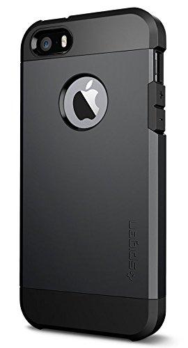 Spigen Tough Armor Desigend for Apple iPhone SE Case (2016) / Designed for iPhone 5S Case (2013) / Designed for iPhone 5 Case (2012) - SF Smooth Black
