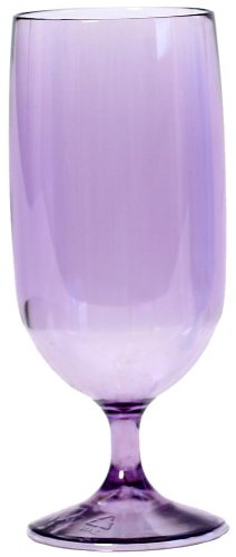 (Linden Sweden 15-Ounce Ice tea/Beer Stem, Transparent Purple, Set of 4)