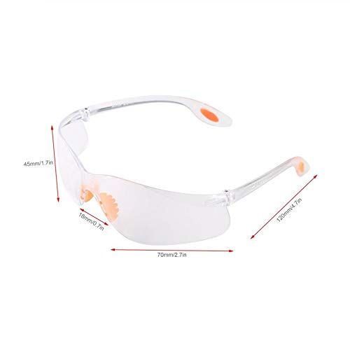 fengwen66 Occhiali protettivi Occhiali protettivi da Moto Anti-Vento Occhiali protettivi da Laboratorio Trasparente