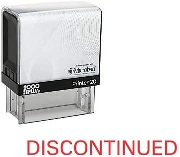 C-10027 Red Ink Discontinued Cosco Printer Office Self Inking Rubber Stamp