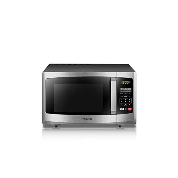 Toshiba EM925A5A-SS Microwave Oven with Sound On/Off ECO Mode and LED Lighting 0.9 cu. ft. Stainless Steel (Renewed) 2