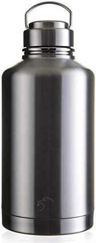 Botella de acero inoxidable con aislamiento de 2000 ml, gran cantimplora de agua, sin BPA, BPS para camping, viajes