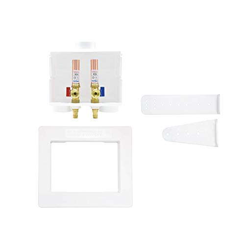 Eastman 60231 Expansion PEX Dual Drain Washing Machine Outlet Box with Hammer Arresters, 1/2