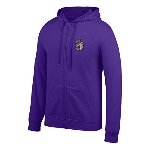 (Top of the World NCAA Men's James Madison Dukes Lightweight Full Zip Hoodie Purple Large)