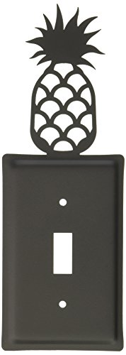 Village Wrought Iron Switchplate - 8 Inch Pineapple Single Switch Cover