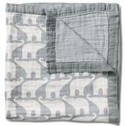 Milkbarn Big Lovey Baby Blanket - Blue Elephant