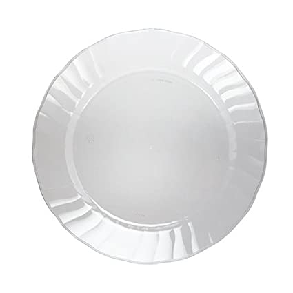 WNA wnaplates Cut Crystal Heavyweight Clear Plastic Party Plates 70 Count  sc 1 st  Amazon.com : heavyweight paper plates - pezcame.com