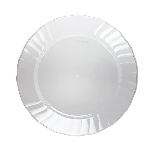 Crystal Heavyweight Clear Plastic Wedding Plates
