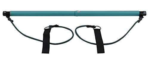 Empower Pilates Resistance Band and Toning Bar, Pilates Yoga Total Body Workout, Stretch, Sculpt, Tone with DVD