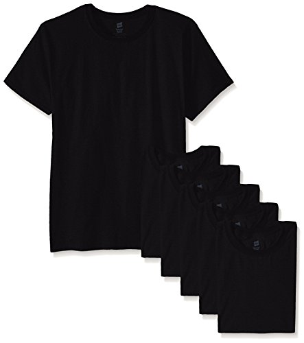 Hanes Men's ComfortSoft T-Shirt (Pack Of 6), Black, - All Men Black