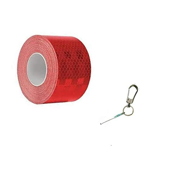 AUTOVISION IMPORTED 2 INCHES REFLECTIVE TAPE (RED) 150 FT