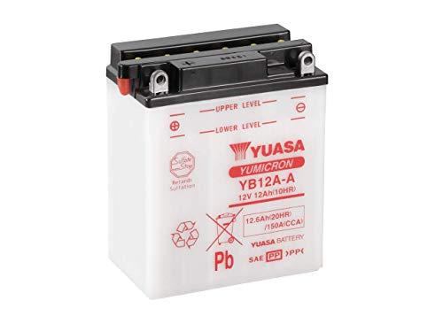 YUASA Batterij YB12A-A open zonder zuur