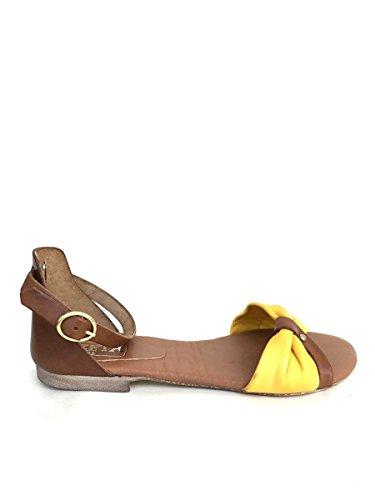 Sandalias amarillo de mujer SHOES Piel ZETA de para vestir 1T5xw6Z