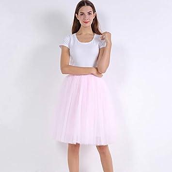 NVDKHXG Moda 5 Capas 60 cm Moda Falda de Tul Plisada Faldas Tutu ...
