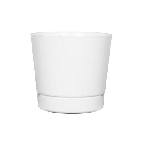 plastic plant pot white - 1