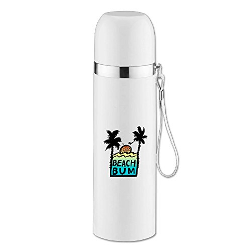Caryonom Beach Bum Sunshine Insulated Water Bottle Travel Mug Vacuum Cup For Office Home Outdoor Adult Kids