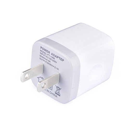 Wall Charger, Vifigen 2-Pack USB 2.1AMP Universal Power Home Travel Wall Charger Dual Port Plug for iPhone 7/7 plus 6/6 plus 5S 5 4S Samsung S5 S4 S3, Note 5, HTC, LG and More Device