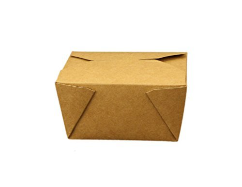 - Take Out Containers Easy Fold & Close (Pack of 50) Box #1 Kraft Paper with Poly-coated Inside To-go Containers [30oz - 4.3