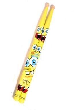 Spongebob - Baquetas infantiles, diseño de Bob Esponja, color amarillo: Amazon.es: Instrumentos musicales