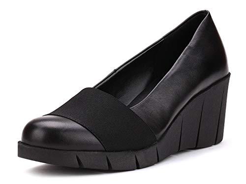 Shoe Black Court Woman Wedge Spacetick Flexx The qnISgwxUU