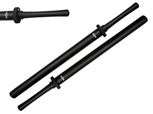 "S-TEC 35"" Practice Padded Foam Sparring Sword Set with ABS Handle and PVC Core. (Black)"