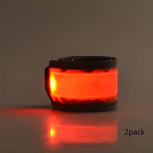 (Shift+N LED Slap Bracelets, LED Armband Our LED Slap Band which with Double Security of Reflective Coating +led Light (2 pcs in a Pack))