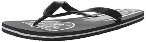 (Oakland Raiders Unisex Gradient Big Logo Flip Flop Large)