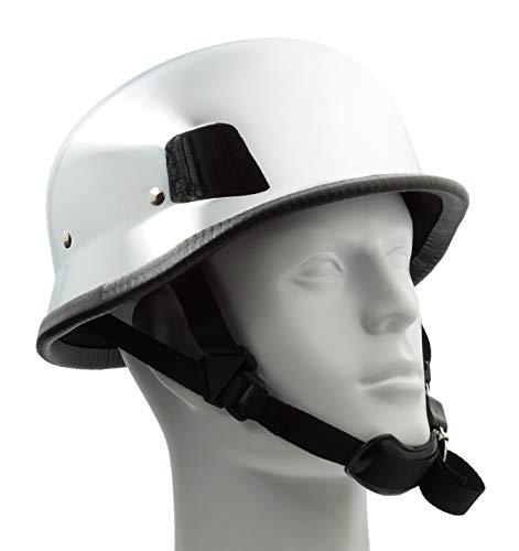 opper Biker ATV Helmet Novelty (Non Dot) For Cruiser Harley Scooter German (Large, Chrome) ()