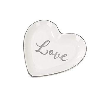 My Weddingshop Ring Teller Love Ring Kissen Alternative Herz Teller