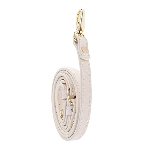 MonkeyJack Adjustable Leather Chain Replacement Crossbody Shoulder Purse Handbag Bag Strap - (White Leather Strap)