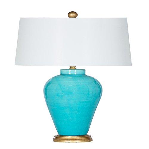 Bradburn Gallery Del Mar Bay Aqua One-Light Table Lamp - Bradburn Lamps