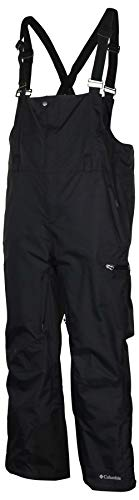 Columbia Men's Haskill Mountain BIB Ski Snowboard OMNI HEAT Pants Black (L) (Mens Skiing Bibs)