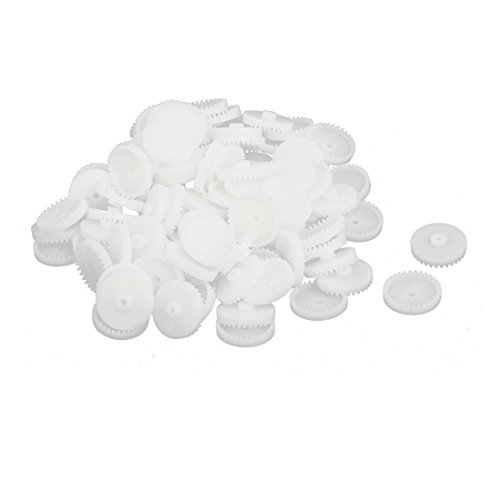 uxcell 100PCS 32 Teeth 2mm Hole Diameter Plastic Gear Wheel for RC Toy Car by uxcell