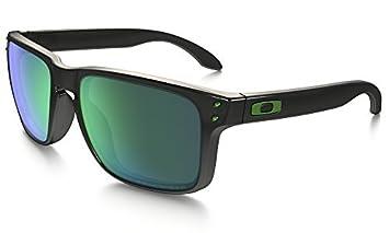 Oakley – Gafas polarizadas Gafas de sol Wayfarer Negro brillante – Verde Jade Iridio 9102 –