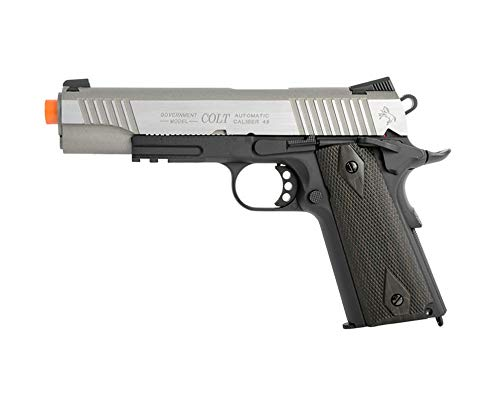 (KWC 1007240 Colt 1911 Rail Pistol Co2 Full Metal Blowback-Two Tone )