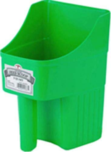 Little Giant 3-Quart Enclosed Feed Scoop, Lime Green